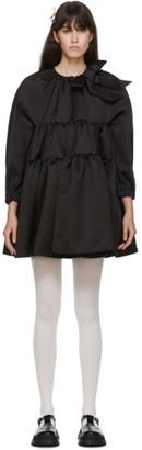 SHUSHU/TONG Black Tiered Short Dress