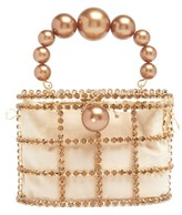 Rosantica Holli Crystal-embellished Cage Clutch - Womens - Brown Multi