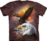 The Mountain Men's Eagle and Clouds Adult T-Shirt