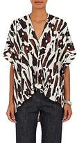 Zero Maria Cornejo Women's Lena Bark-Print Stretch-Silk Blouse
