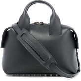 Alexander Wang Women's Rogue Small Embossed Snake/Leather Satchel Black