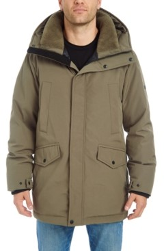 Vince Camuto Men's Smooth Long Hooded Parka