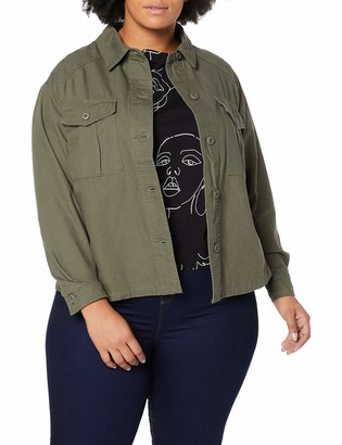 New Look Curves Women's Bonnie Cropped Jacket