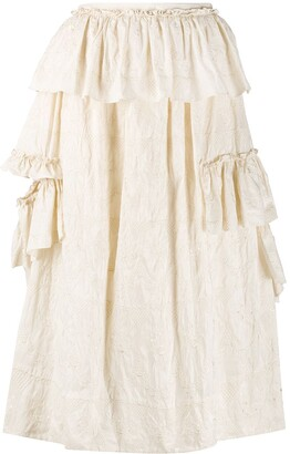 Simone Rocha Ruffle-Detail High-Waist Skirt