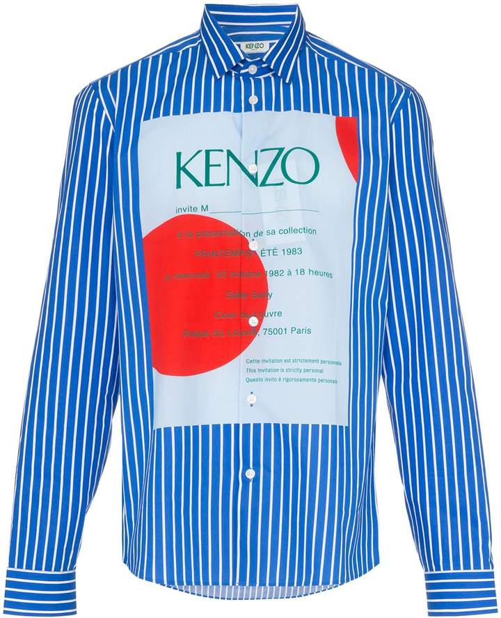9296b8e79e5 striped logo print shirt