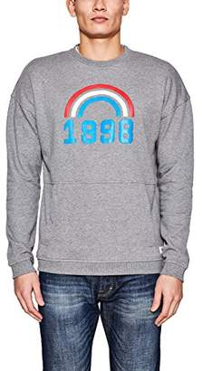 Esprit edc by Men's 018cc2j009 Sweatshirt, (Medium Grey 035), Large