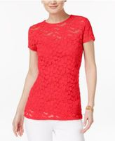 INC International Concepts Lace Illusion Top, Only at Macy's