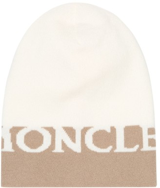 Moncler Logo wool and cashmere beanie