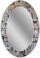 3.1 Phillip Lim Deco Mirror in. L x 21 in. W Windsor Oval Tile Wall Mirror