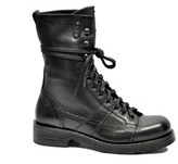 O.x.s. Women's Black Leather Ankle Boots.