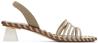 Jacquemus Taupe Les Sandales Valerie Heeled Sandals