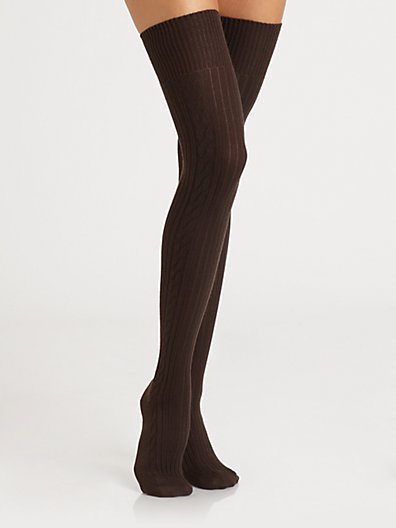 Falke Cable Over-The-Knee Socks
