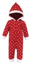 Red Polka Dot Hudson Baby Girl Fleece Jumpsuit