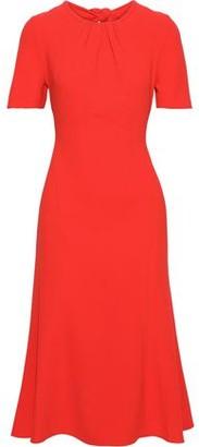 Diane von Furstenberg Rose Knotted Crepe Dress