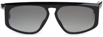 Givenchy GV7125/S Black Flap Top Square Sunglasses