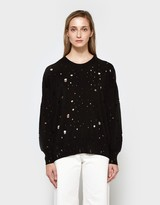 Alexander Wang L/S Oversized Crew Neck Sweater in Black