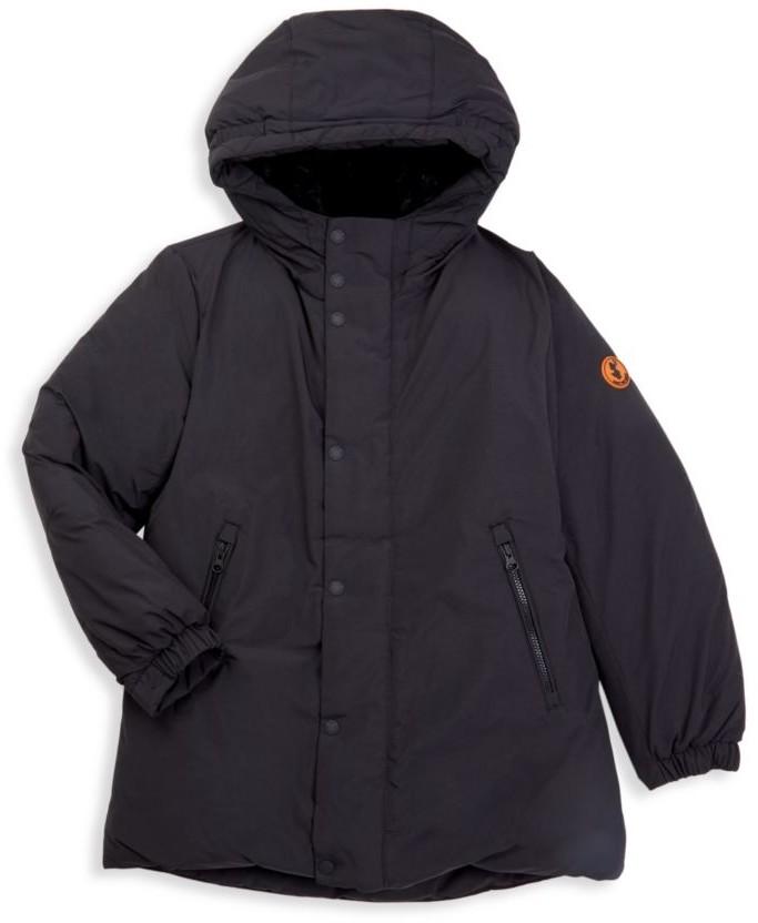 Little Kid//Big Kid Save the Duck Kids Girls Short Hooded Reversible Faux Fur Jacket
