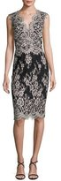 Erin Fetherston Sleeveless Scalloped Lace Cocktail Dress, Black