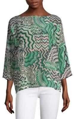 M Missoni Zigzag Silk Top