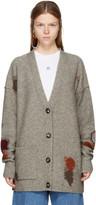Acne Studios Beige Wool Line Cardigan