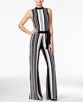 GUESS Tamika Striped Wide-Leg Jumpsuit