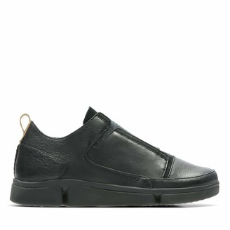 Clarks Women's Tri Pure Low-Top Sneakers Black (Black Leather 5.5 UK