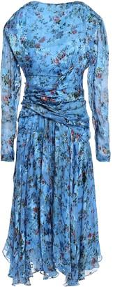 Preen by Thornton Bregazzi Kelsey Ruched Floral-print Devore Silk-blend Dress