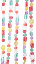 Kurt Adler 9' Plastic White Flocked Candy Garland