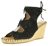 Franco Sarto Nash Open Toe Suede Wedge Sandal.