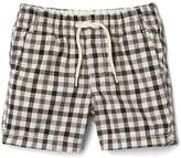 Gap Gingham pull-on shorts