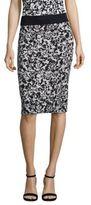 BOSS Emkisa Floral-Print Jersey Pencil Skirt