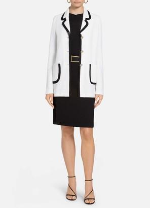 St. John Luxury Boucle Contrast Trim Pocket Jacket