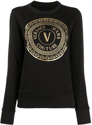 Versace Jeans Couture logo-print crew neck Tee