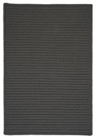 Colonial Mills Simply Home Hand-Braided Gray Indoor/Outdoor Area Rug Rug Size: Runner 2' x 5'