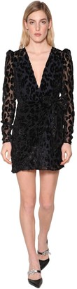 Self-Portrait Leopard Devore Mini Dress