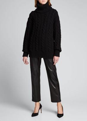Dolce & Gabbana Cable-Knit Turtleneck Sweater