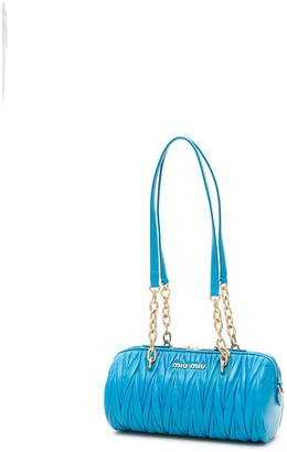 Miu Miu Matelasse Logo Shoulder Bag