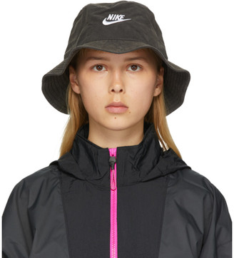 Nike Black Washed NSW Bucket Hat