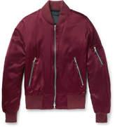 Amiri Silk-Satin Bomber Jacket