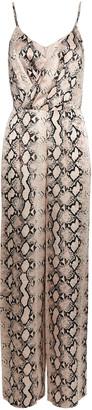 L'Agence Maeve Snake Print Silk Jumpsuit