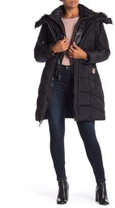 GUESS Faux Fur Trim Jacket