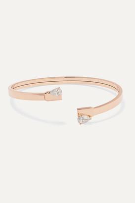 Repossi Serti Sur Vide 18-karat Rose Gold Diamond Cuff
