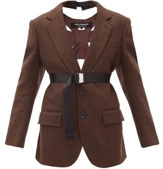 Junya Watanabe Harness-back Single-breasted Tweed Suit Jacket - Brown