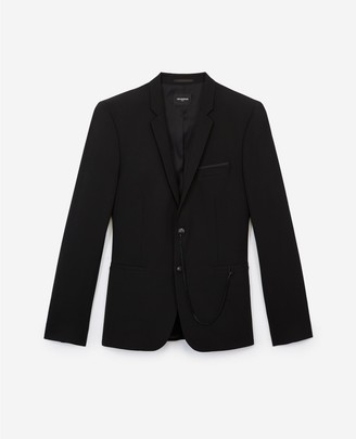 The Kooples Formal black jacket in wool with chain