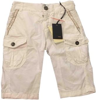 Fendi White Cotton Shorts