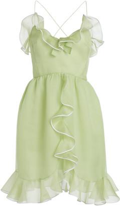 Giambattista Valli Silk Georgette Ruffle Mini Dress
