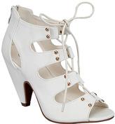 White Studded Roman Sandal