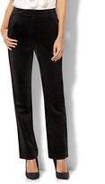 New York & Co. 7th Avenue Design Studio - Slim-Leg Pant - Runway - Slimmest Fit - Black Velvet