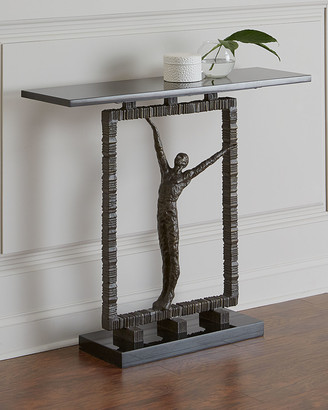 Global Views Bronze Statuesque Console Table