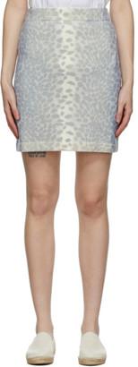 Kenzo Grey Wool Guepard Miniskirt
